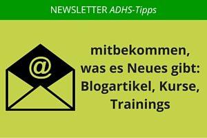 ADHS-Tipps per Email abonnieren